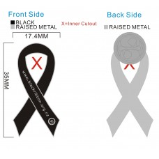 Black Ribbon Badges